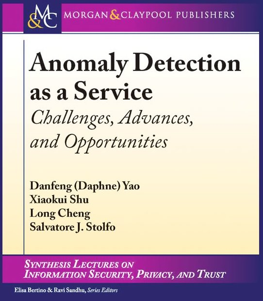 Our book on anomaly detection as a service